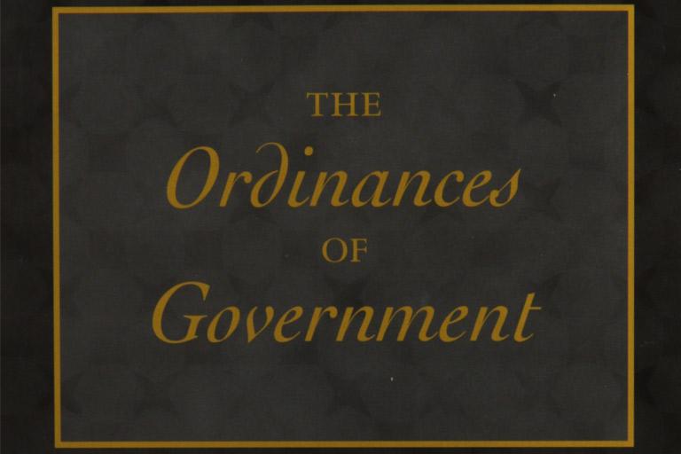 RESENSI BUKU – THE ORDINANCES OF GOVERNMENT